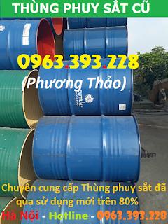 Kho cung cấp Thùng phuy sắt đã qua sử dụng mới trên 80% tại Hà Nội