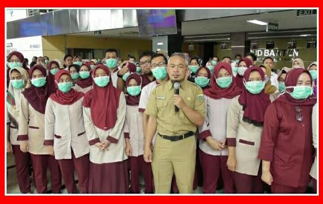 Tidak Mau Mati Konyol Karena Corona, 60 Petugas RSUD Banten Pilih Resign Walau Gajinya Naik Rp 5 Juta