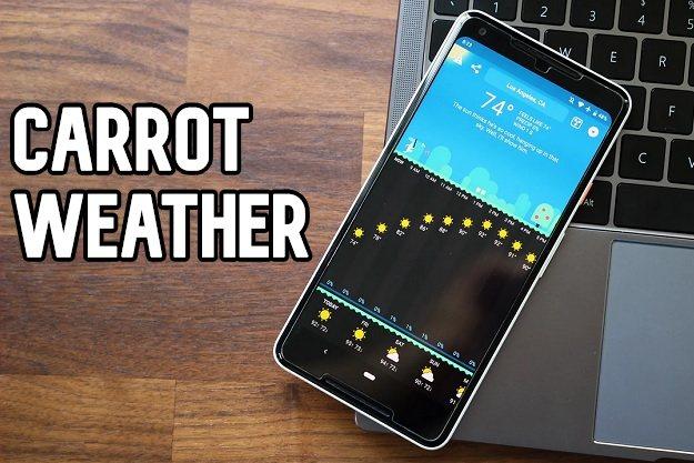 Carrot Weather - Μία νέα δωρεάν εφαρμογή για πρόγνωση καιρού σε κινητά Android