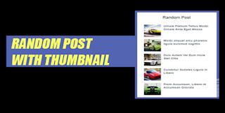 Cara Mudah Membuat Widget Random Post Dengan Gambar