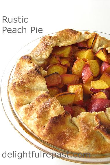 Peach Galette - Rustic Peach Pie / www.delightfulrepast.com