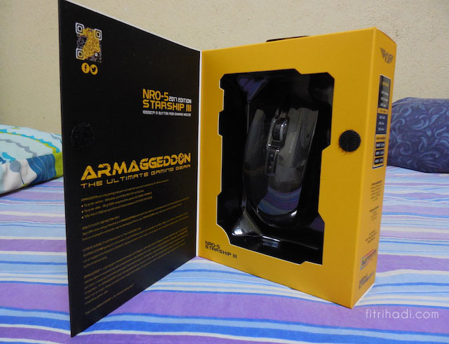 Ulasan NRO-5 Starship III Armaggeddon 2017 Edition Gaming Mouse