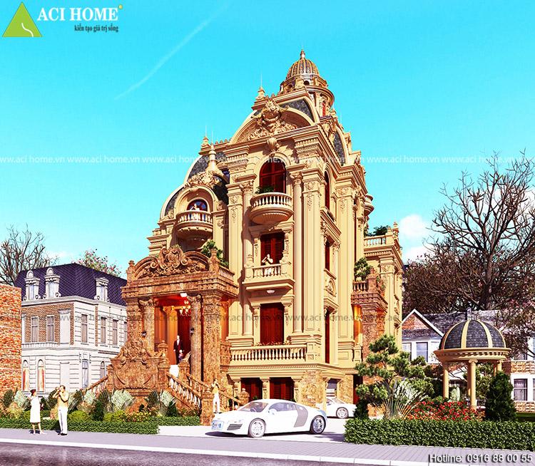 Thiết kế biệt thự kiểu Pháp tại Đồng Nai