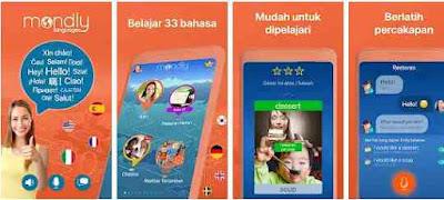 Aplikasi Belajar Bahasa Gratis – Mondly