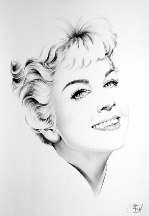 08-Doris-Day-Ileana-Hunter-Celebrity-Black-and-White-Stylish-Drawing-Portraits-www-designstack-co