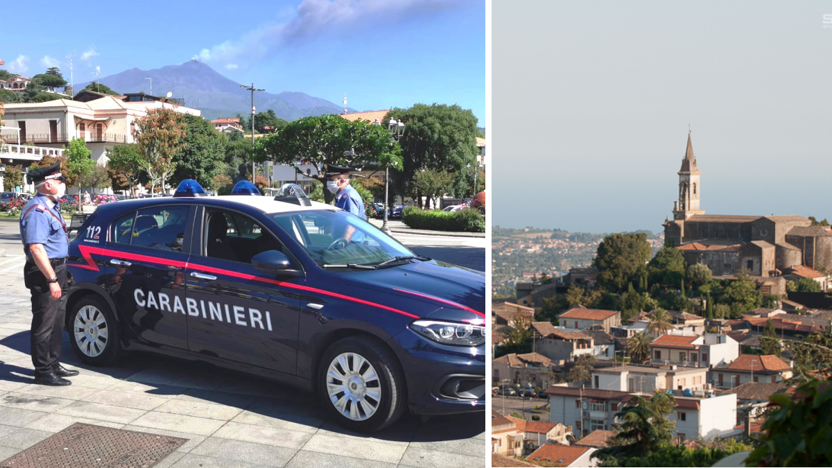 Trecastagni violenza domestica Carabinieri