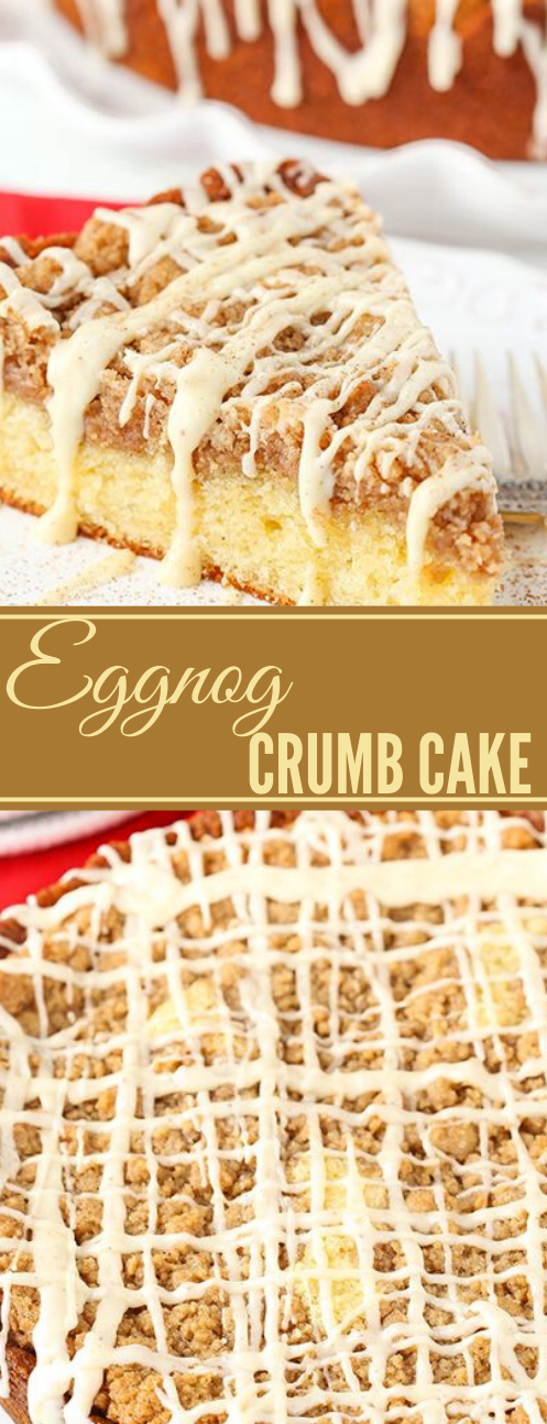 EGGNOG CRUMB CAKE #healthyrecipes #crumb #cake #paleo #keto
