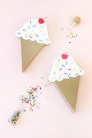 scatoline a forma di cono gelato