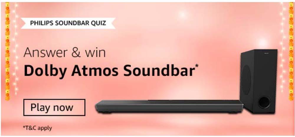 Amazon Philips Soundbar Quiz, Amazon Philips Soundbar Quiz Answers