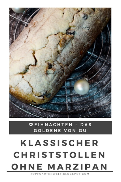 {Buchwerbung} einfach und saftig das perfekte Rezept für einen klassischen Christstollen ohne Marzipan für Weihnachten #christstollen #weihnachten #topfgartenwelt