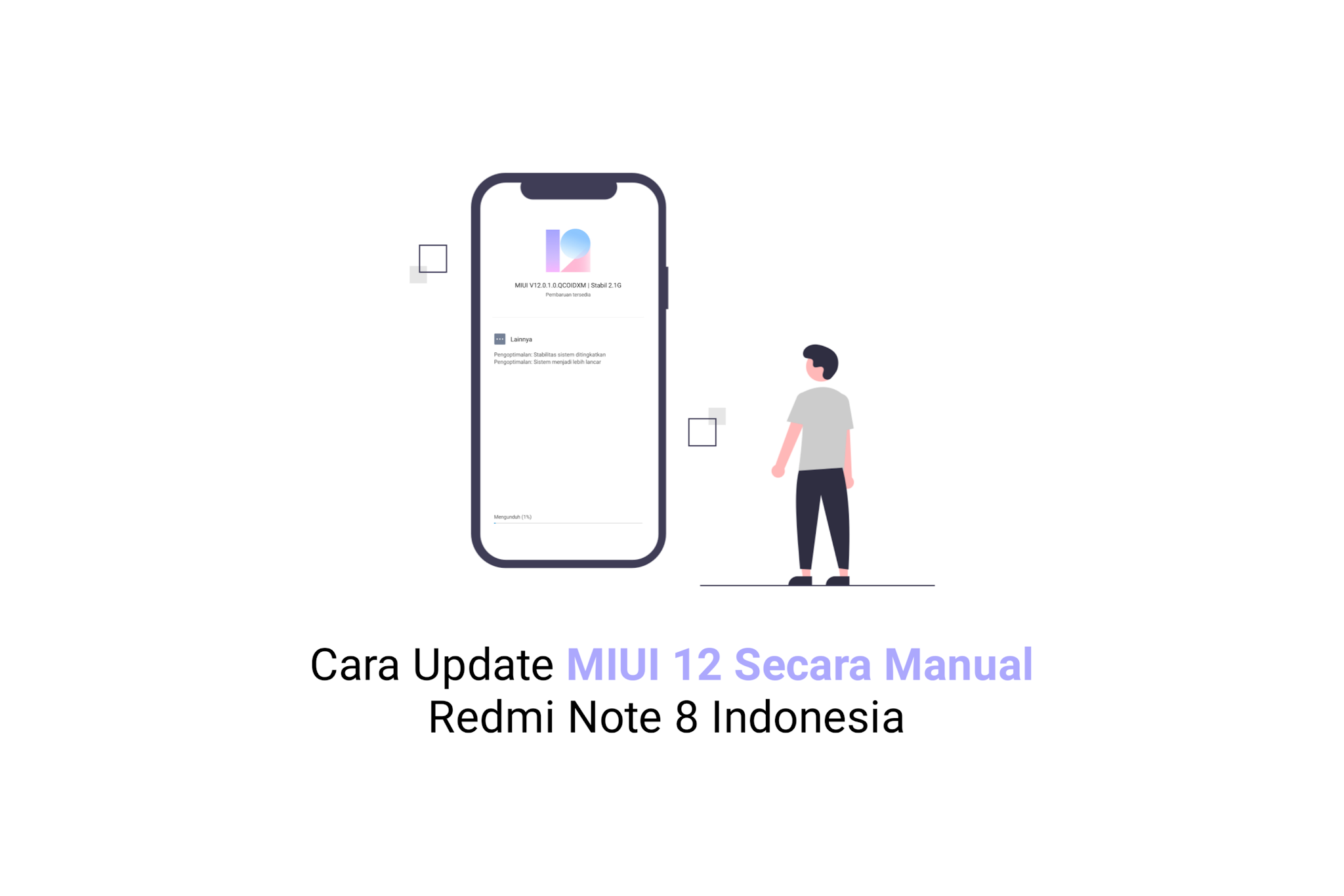 Update MIUI 12 Redmi Note 8 Indonesia Secara Manual