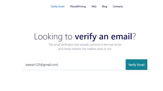 Cara mengecek email valid atau tidak