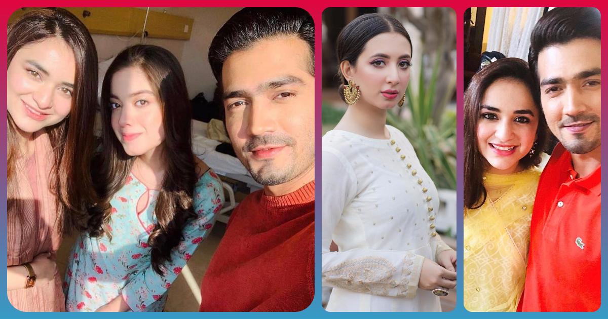 Drama Raaz E Ulfat   BTS Clicks of Yumna Zaidi and Shahzad Sheikh