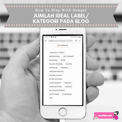 jumlah ideal label blog