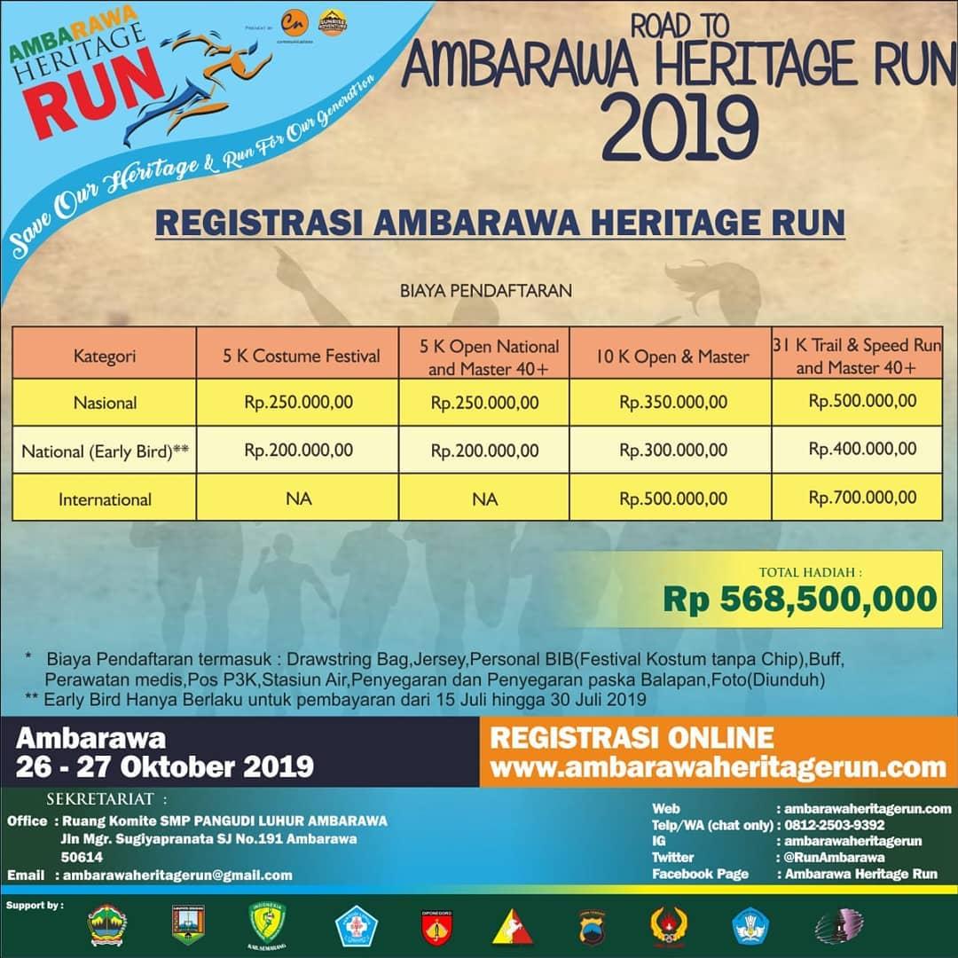 Ambarawa Heritage Run • 2019