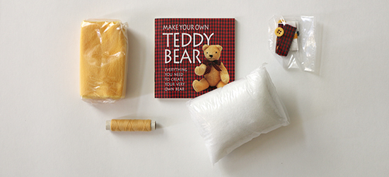 Book and Materials in the Make Your Own Teddy Bear Kit