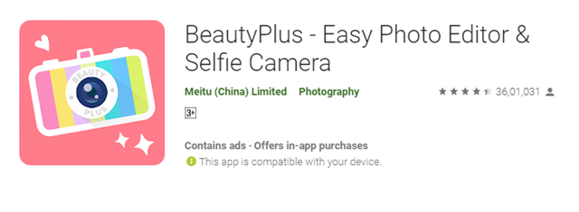 Beauty Plus Selfie Camera