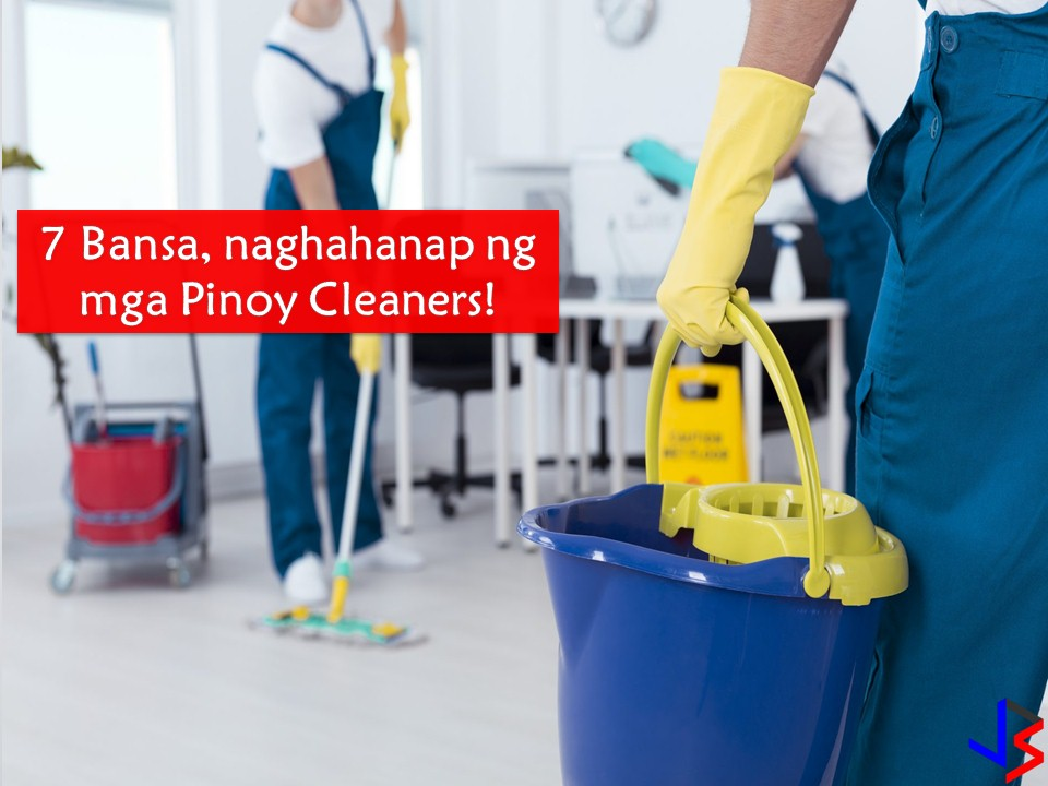 Japan, Saudi Arabia, Kuwait, United Arab Emirates, Qatar, Bahrain, and Oman are in need of male and female Filipino cleaners! Cleaners will be assigned to work as window cleaner, building cleaner and general cleaners. The following list of jobs is approved by the Philippine Overseas Employment Administration (POEA) to the seven countries!   Jbsolis.net is NOT a recruitment agency and we are NOT processing nor accepting applications for jobs abroad. All information in this article is taken from the website of POEA — www.poea.gov.ph for general purposes only. Recruitment agencies are being linked to each job orders so that interested applicants may know where to coordinate and apply for their desired position.  Interested applicant may double-check the job orders as well as the licensed of the hiring recruitment agencies in POEA website to make sure everything is legal.  This article is filed under    hiring Filipino workers, Filipino workers, Filipina maid, employment opportunities, job site, IT jobs, jobs abroad, local employment, caregiver jobs, construction jobs,    Those who died yesterday had plans for this morning. And those who died this morning had plans for tonight. Don't take life for granted. In the blink of an eye, everything can change. So forgive often and love with all your heart. You may never get to have that chance again.
