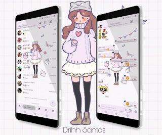Lovely Girl Theme For YOWhatsApp & Fouad WhatsApp By Driih Santos
