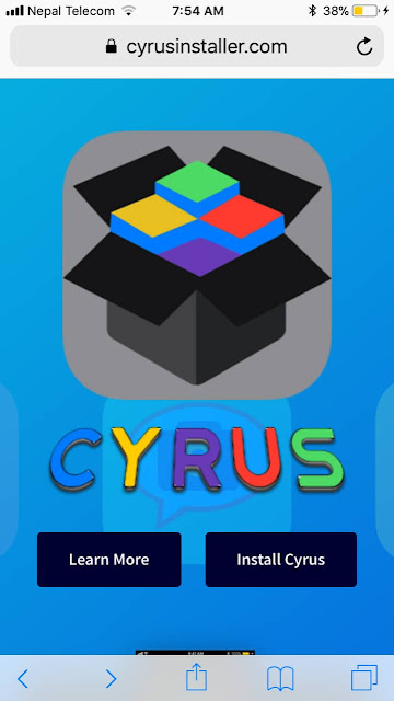 Here's how to download and install Cyrus installer on iPhone/iPad in iOS 11/10.3.3/10.3.2.