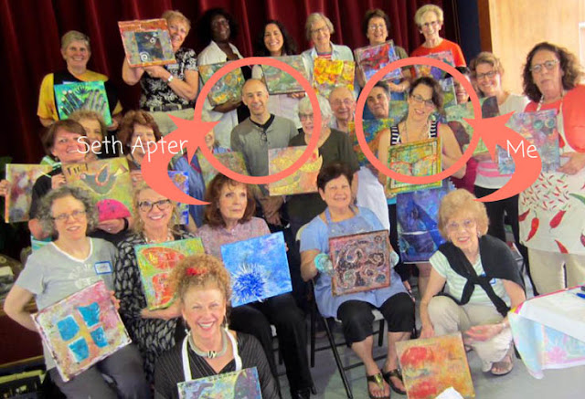 mixed media art retreat with seth apter http://schulmanart.blogspot.com/2015/06/lets-go-on-art-retreat.html