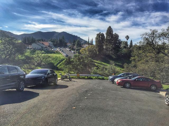 Mt. Diablo Falls Trail Loop Parking area