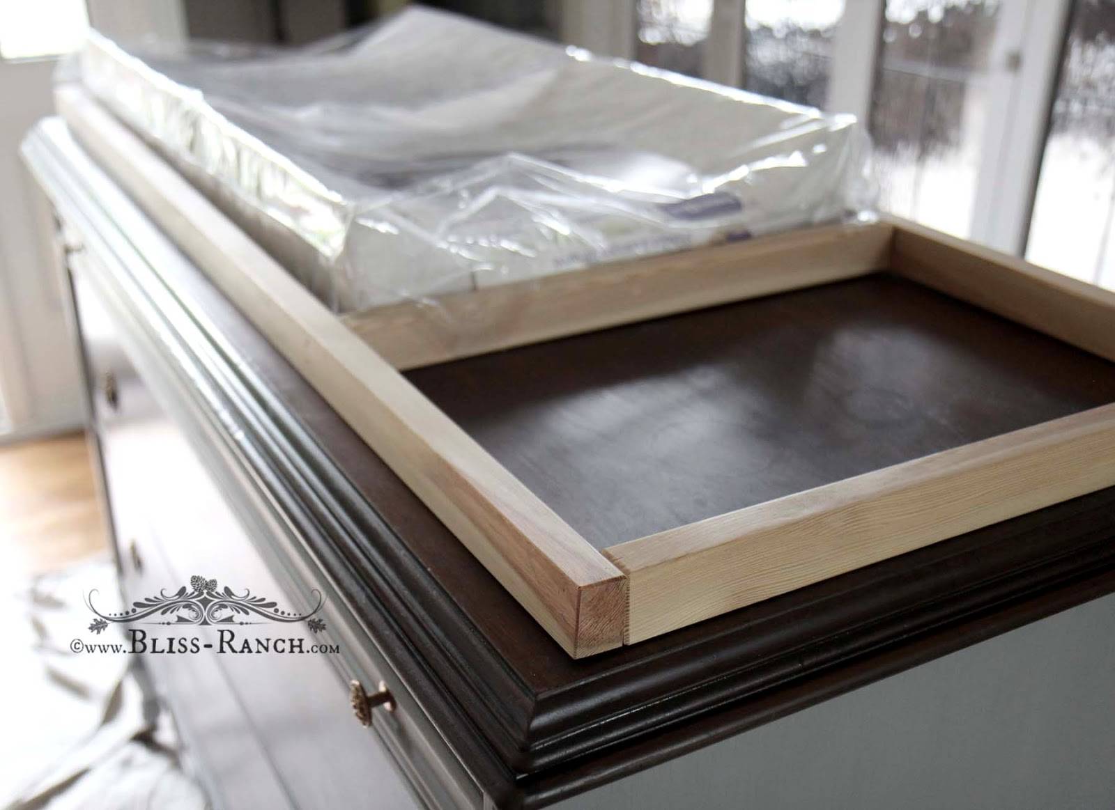 Bliss Ranch Simple Dresser Top To Hold Changing Pad For Baby