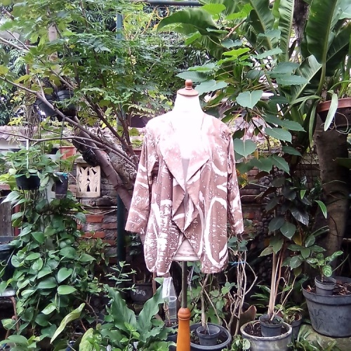 Outer Batik Gepyok Warna Coklat/Sogan