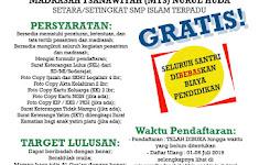 Brosur Pendaftaran Santri Baru Pesantren Gratis Nurul Huda Di Rokan Hulu TP. 2019-2020