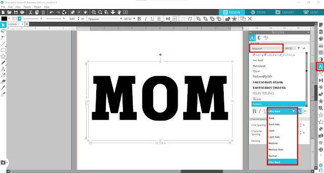 knockout, silhouette studio tutorials, silhouette studio designing, silhouette studio v4, designing text