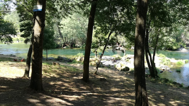 Zona de Pesca desportiva no Rio Cávado