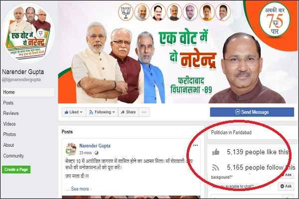 narendra-gupta-facebook-page-faridabad-candidate-news