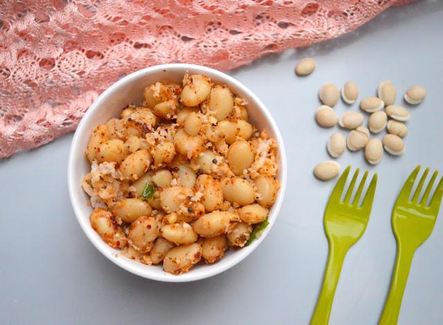 White Mochai Sundal | Butter Beans Sundal