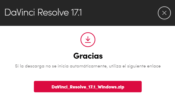 instalador Davinci Resolve 17.1.exe