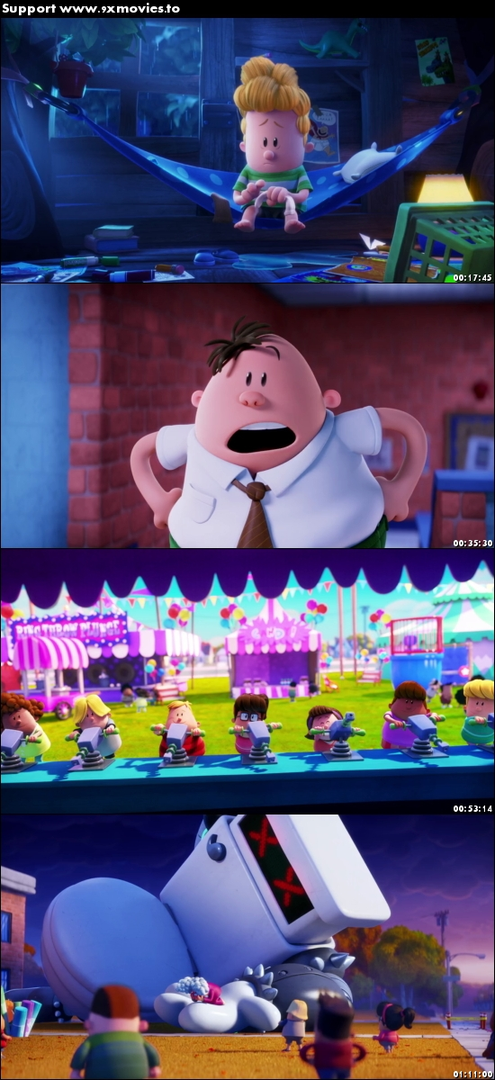 Captain Underpants The First Epic Movie 2017 English 720p BRRip 800MB ESubs