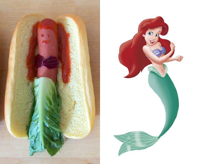 булочка с сосиской, бутерброд с сосиской, бутерброды, куклы, оформление детских блюд, принцесса, сосиски, фигурки, хот-догги, человечкиБутерброд с принцессой http://eda.parafraz.space/