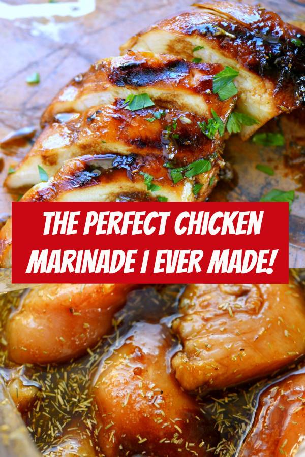 The Perfect Chicken Marinade I EVER Made! It really is the BEST chicken marinade I've ever had. This easy chicken marinade recipe is going to quickly become your favorite go-to marinade! This marinade produces so much flavor and keeps the chicken incredibly moist and outrageously delicious - try it today! #chicken #marinade #chickenmarinade #dinner #easydinner