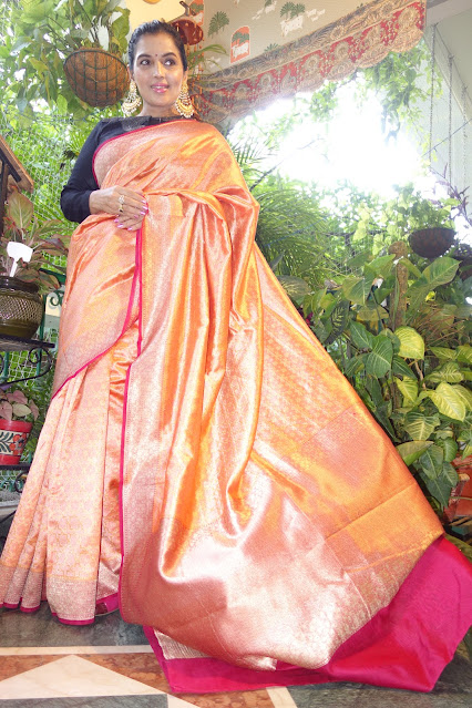 Silk Jamawar saree