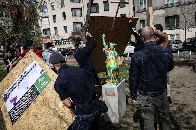 Az Európai Baloldal a BLM-szobrot megrongáló szervezetek azonnali betiltását követeli