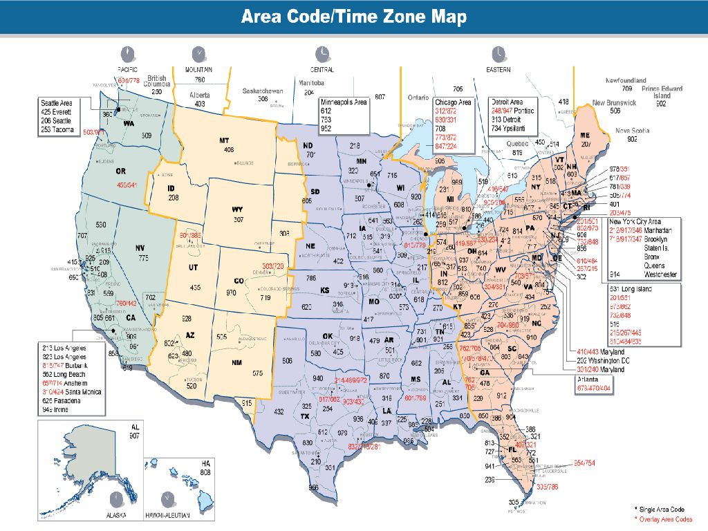 map of united states time zones printable