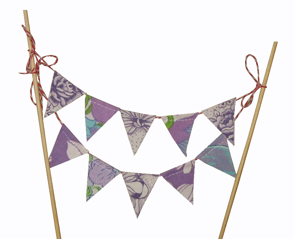 Bunting Cake Toppers With Candles