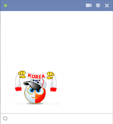 South Korea football fan emoticon