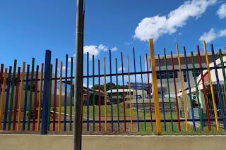 fence around school in Ciudad Colon, Costa Rica