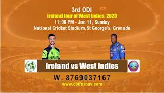 WI vs IRE ODI 3rd ODI