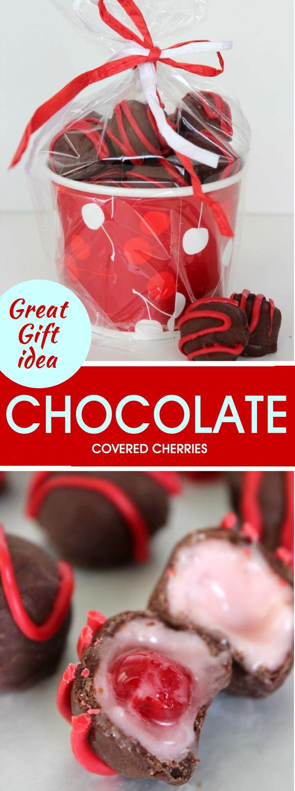 CHOCOLATE COVERED CHERRIES RECIPE #dessert #candy