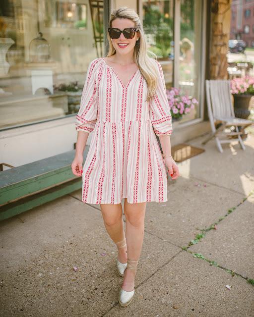 velvet nona striped dress