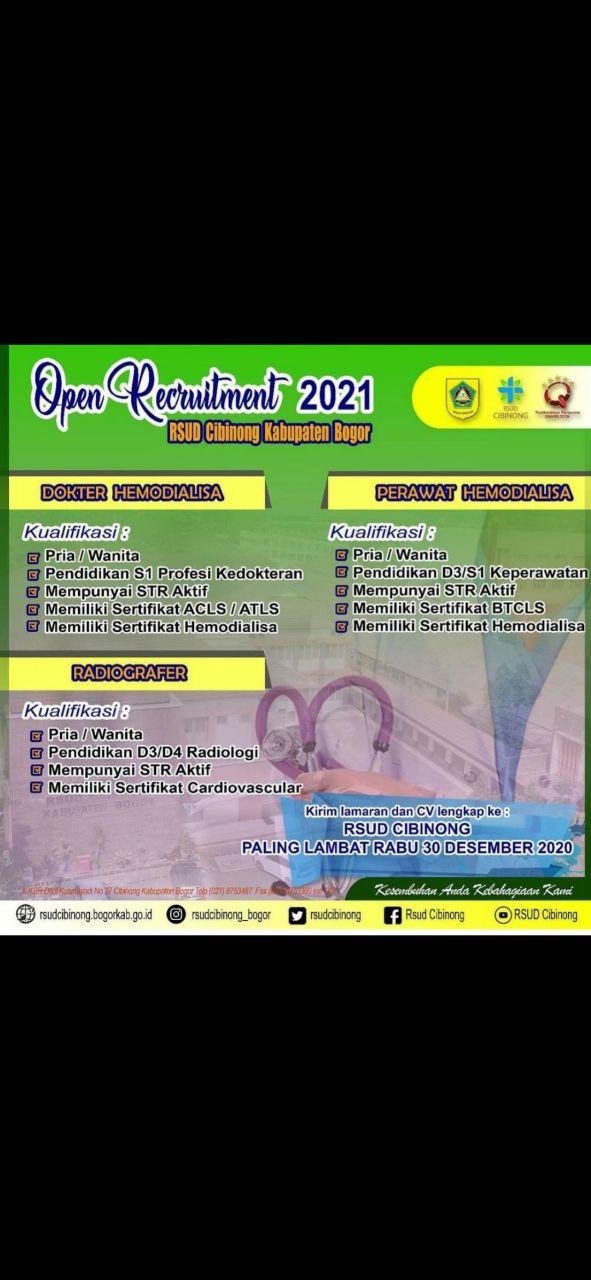 Loker Dokter RSUD Cibinong Kabupaten Bogor