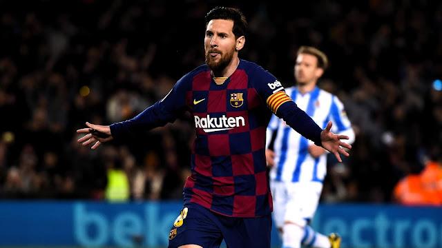 ميسي يمنح برشلونة فوزا عسيرا على سوسيداد