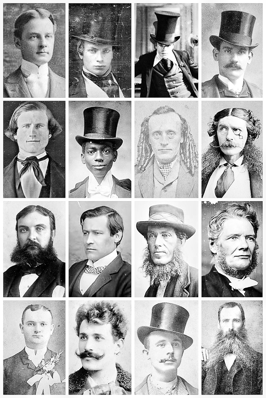 Vintage Portraits Depict Victorian Men S Hairstyles And
