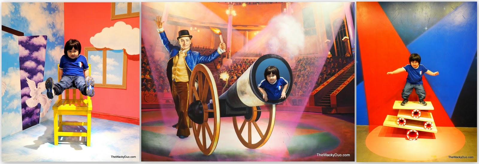 Trickeye Museum Rws Singapore Guide For Families The Wacky Duo Tiket Circus Acts